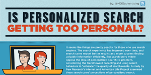 """Is Personalized Search Getting Too Personal?"" Infographic by MDGadvertising"