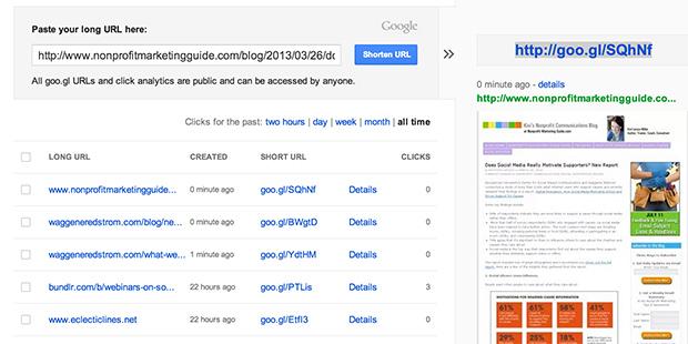 Google Short (screenshot)