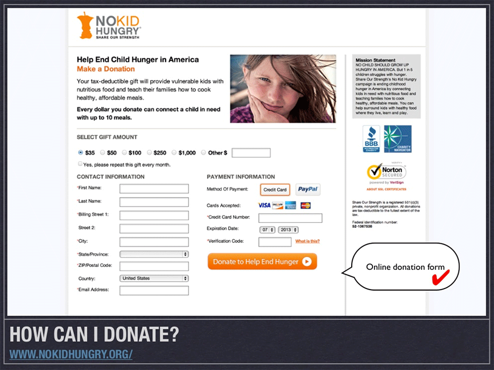 9 Tips for Improving your Nonprofit Website: Show the impact your donors will make